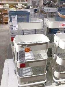IKEAの三段ワゴン大小サイズ比較byきんいろびより