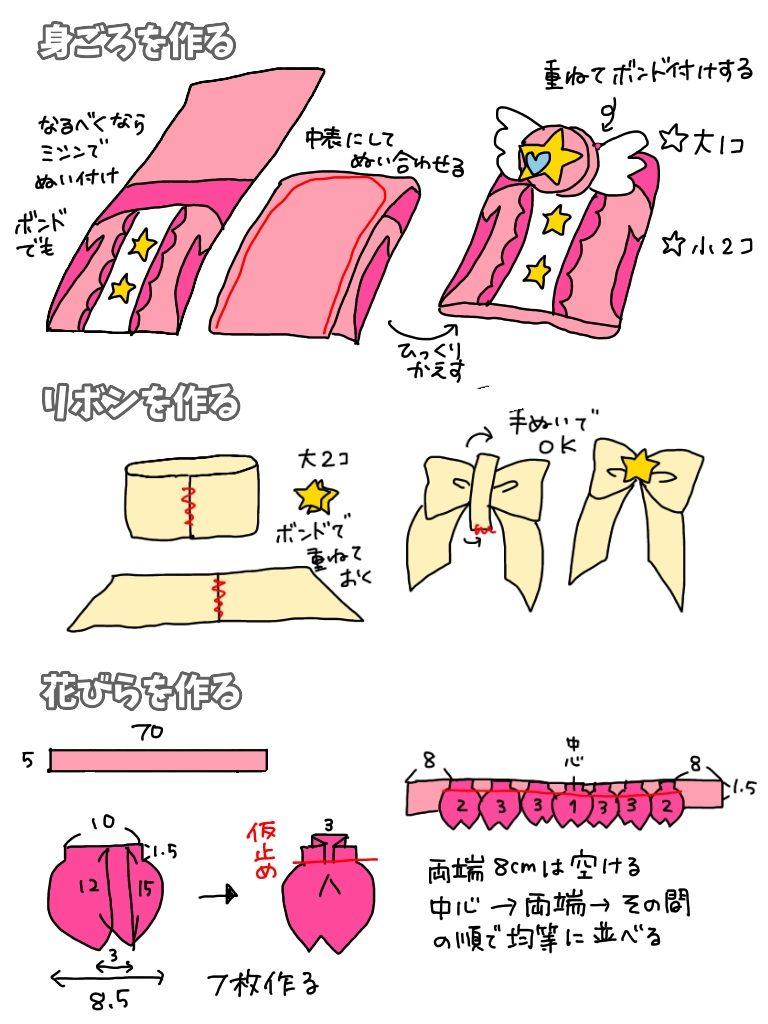 トゥインクルスタイルのキュアスター 衣装の作り方byきんいろびより